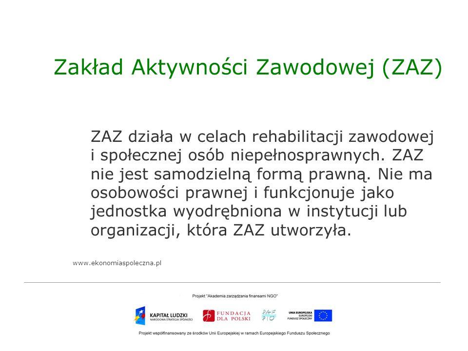 Zakład Aktywności Zawodowej (ZAZ)