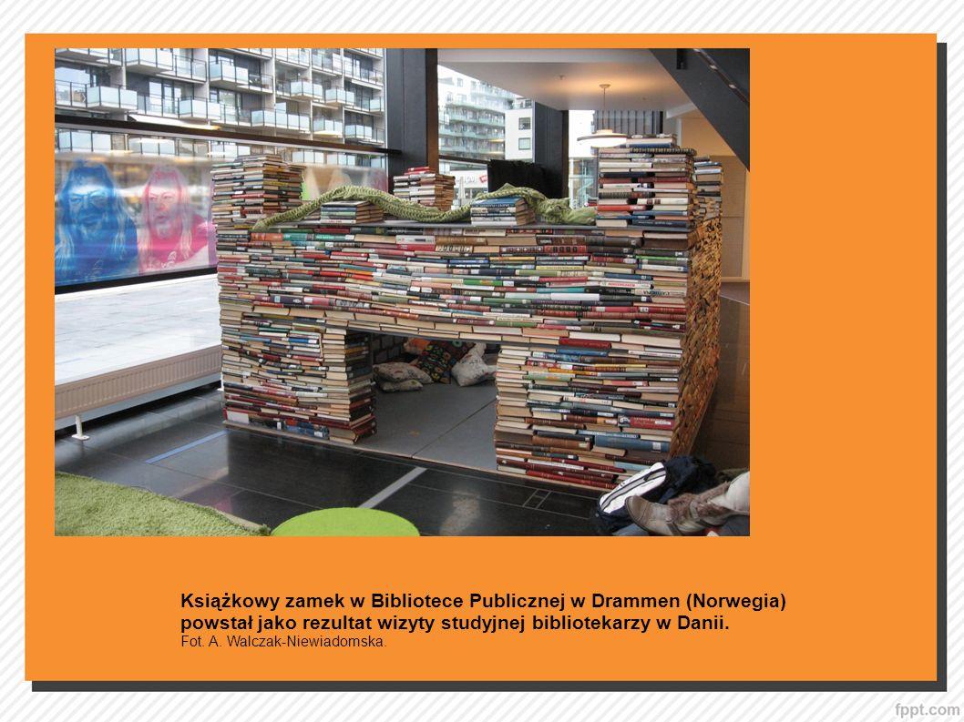 Książkowy zamek w Bibliotece Publicznej w Drammen (Norwegia)