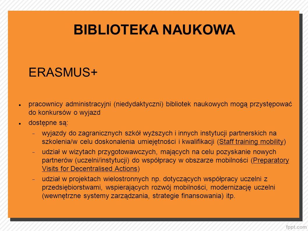 BIBLIOTEKA NAUKOWA ERASMUS+