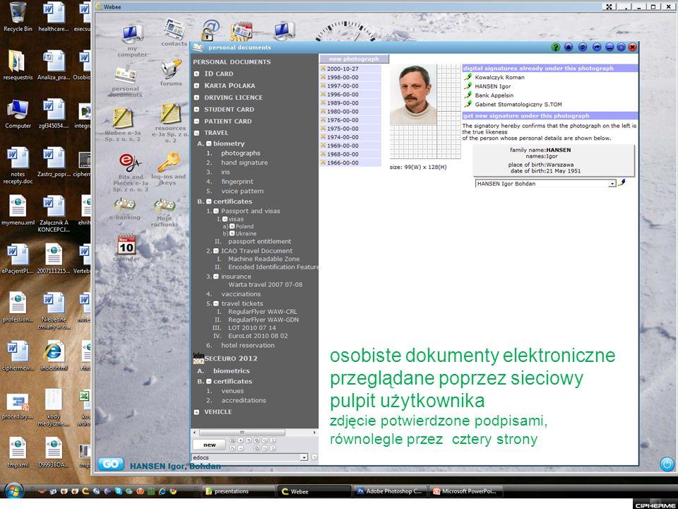 osobiste dokumenty elektroniczne przeglądane poprzez sieciowy