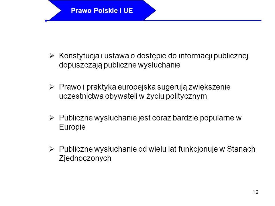 Publiczne wysłuchanie jest coraz bardzie popularne w Europie