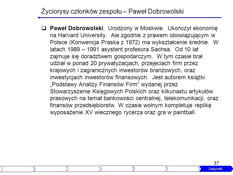 Życiorysy członków zespołu – Paweł Dobrowolski