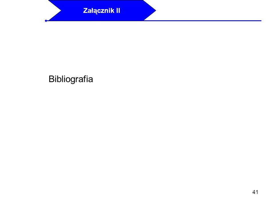 Załącznik II Bibliografia