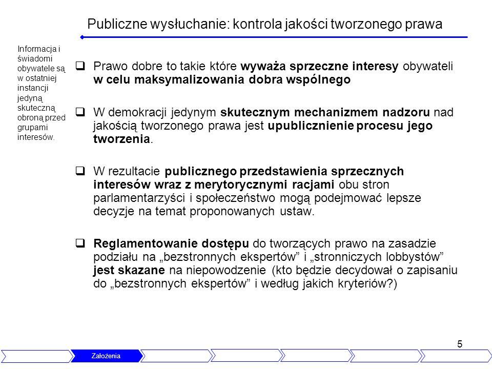 Publiczne wysłuchanie: kontrola jakości tworzonego prawa
