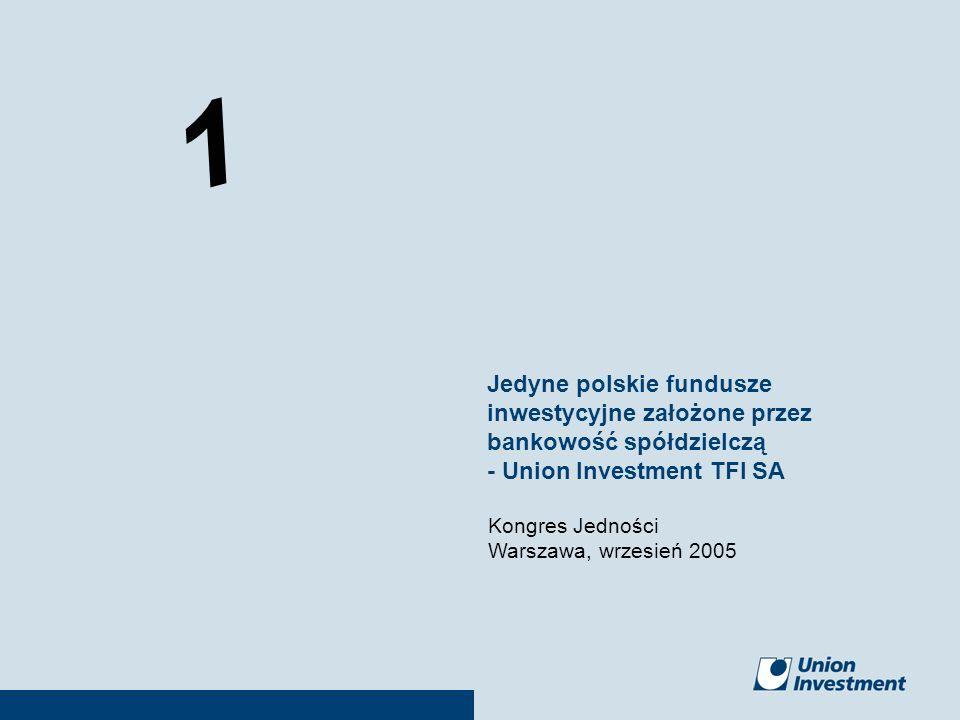 Jedyne polskie fundusze inwestycyjne założone przez bankowość spółdzielczą - Union Investment TFI SA