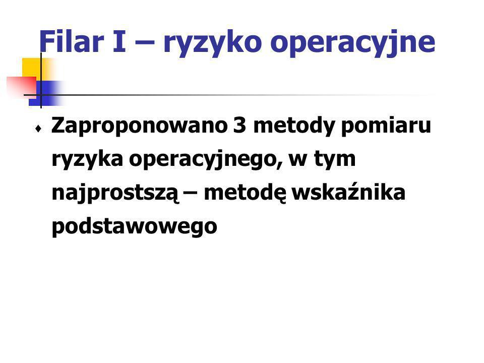Filar I – ryzyko operacyjne