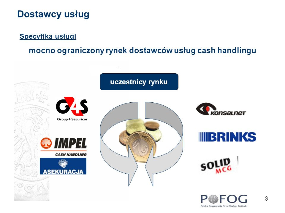 mocno ograniczony rynek dostawców usług cash handlingu