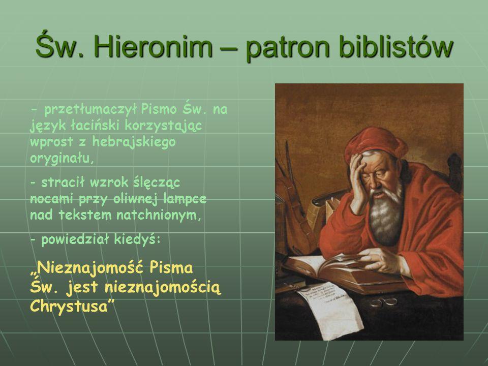 Św. Hieronim – patron biblistów