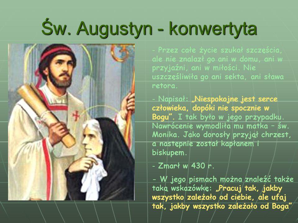Św. Augustyn - konwertyta