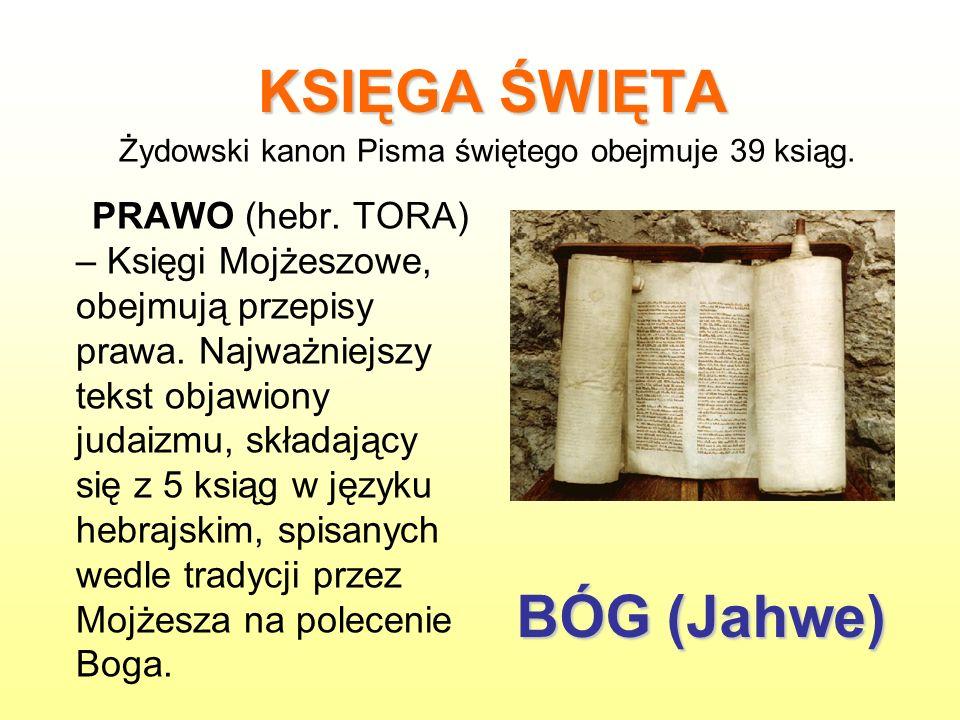 Żydowski kanon Pisma świętego obejmuje 39 ksiąg.