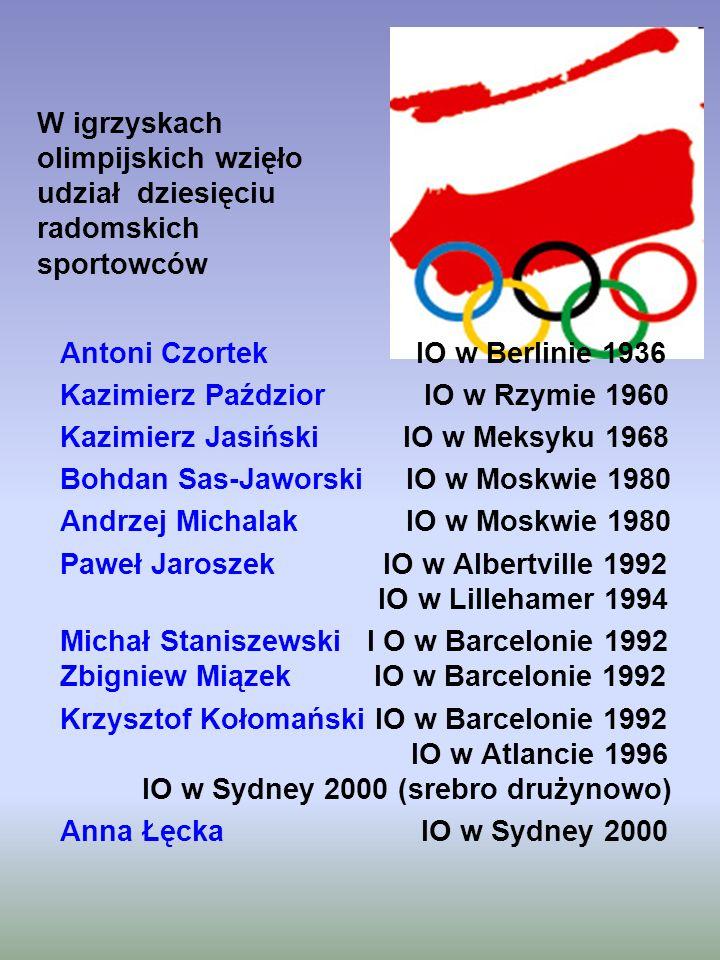 W igrzyskach olimpijskich wzięło udział dziesięciu