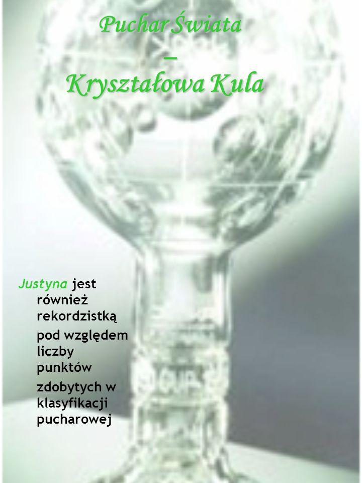 Kryształowa Kula Puchar Świata – Justyna jest również rekordzistką