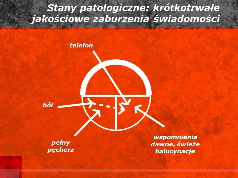 Stany patologiczne: krótkotrwałe jakościowe zaburzenia świadomości