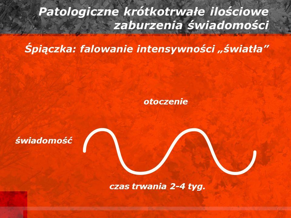 Patologiczne krótkotrwałe ilościowe zaburzenia świadomości