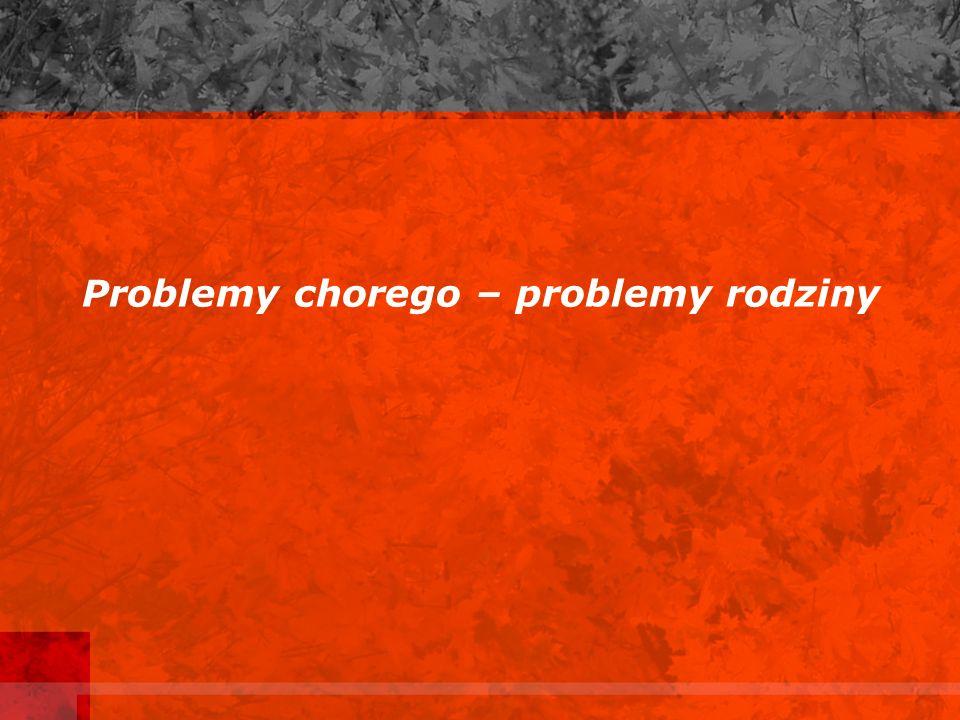 Problemy chorego – problemy rodziny