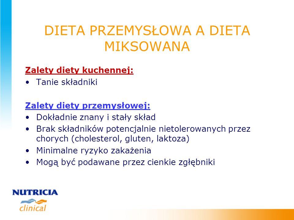 DIETA PRZEMYSŁOWA A DIETA MIKSOWANA