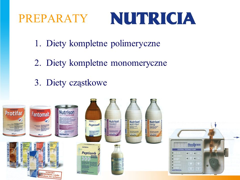 PREPARATY 1. Diety kompletne polimeryczne