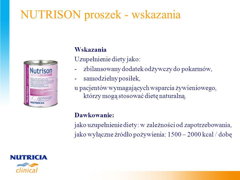 NUTRISON proszek - wskazania