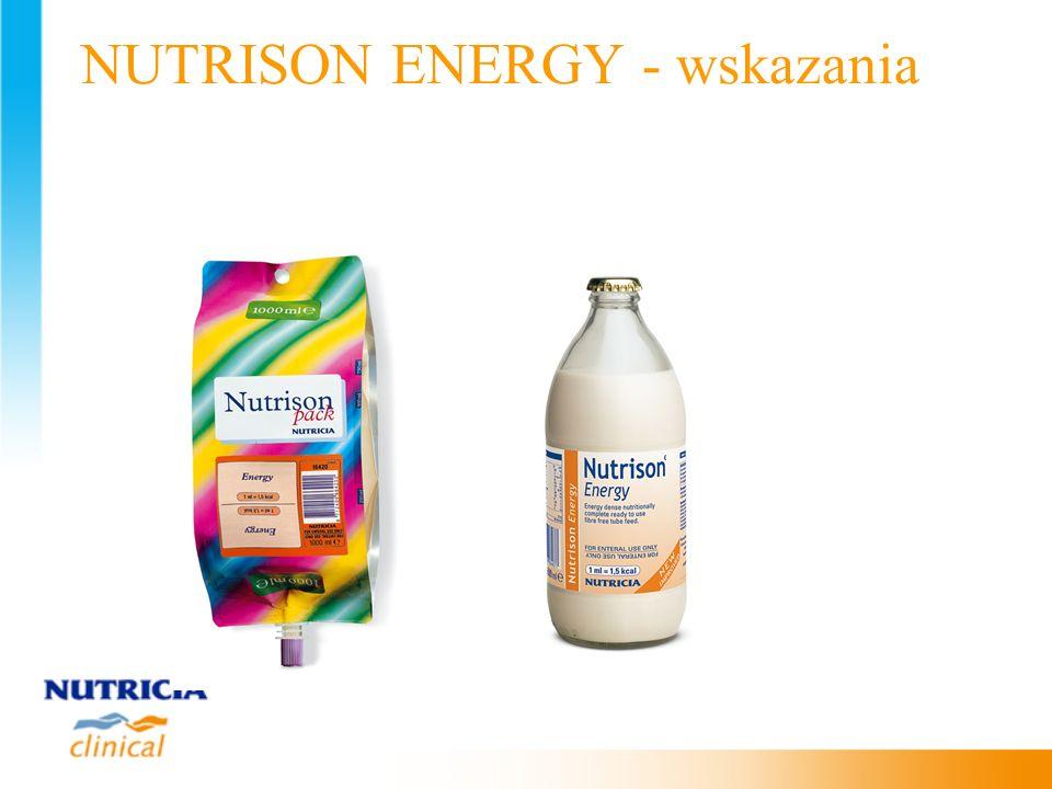 NUTRISON ENERGY - wskazania