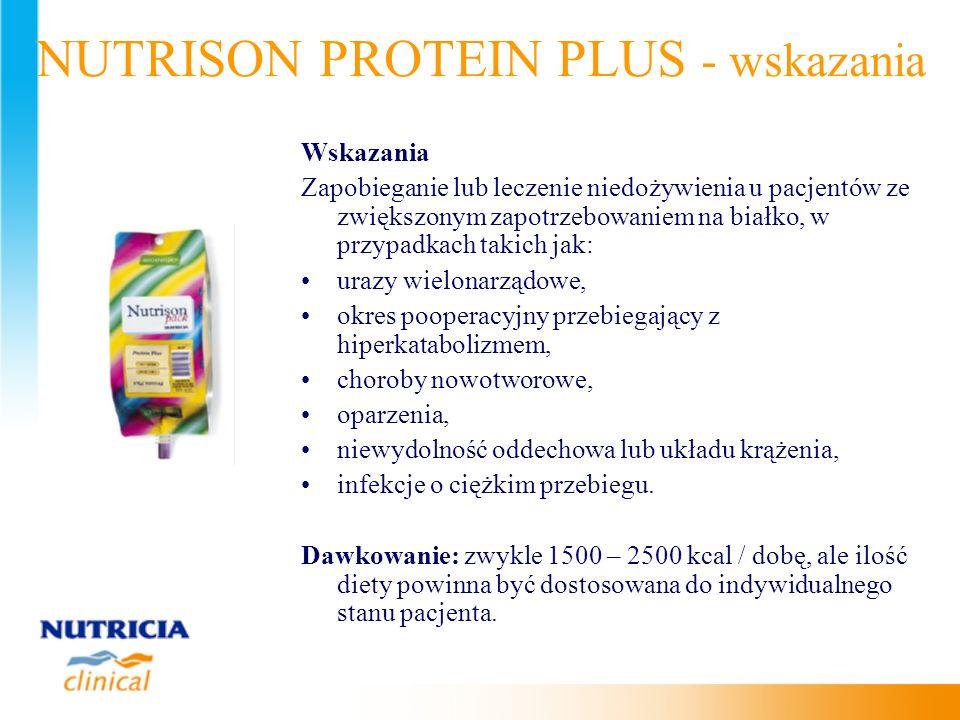 NUTRISON PROTEIN PLUS - wskazania