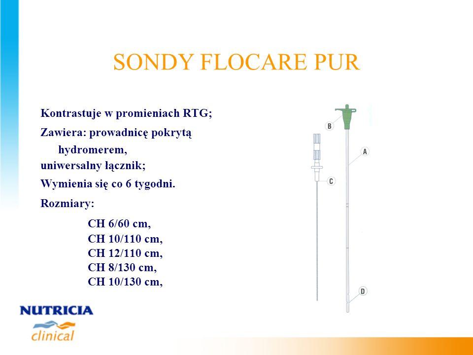 SONDY FLOCARE PUR Kontrastuje w promieniach RTG;