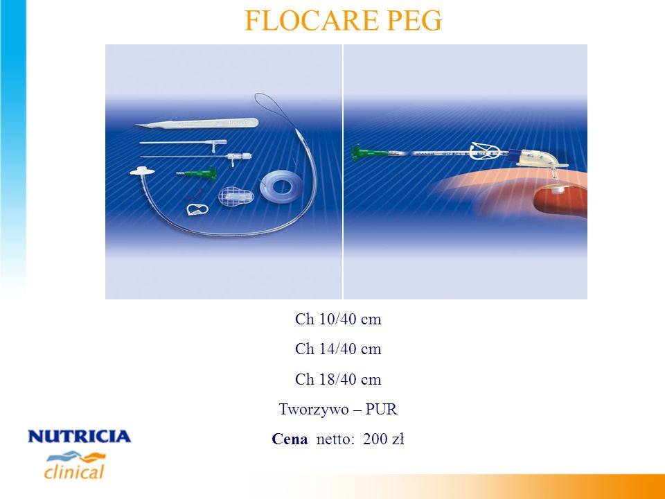 FLOCARE PEG Ch 10/40 cm Ch 14/40 cm Ch 18/40 cm Tworzywo – PUR
