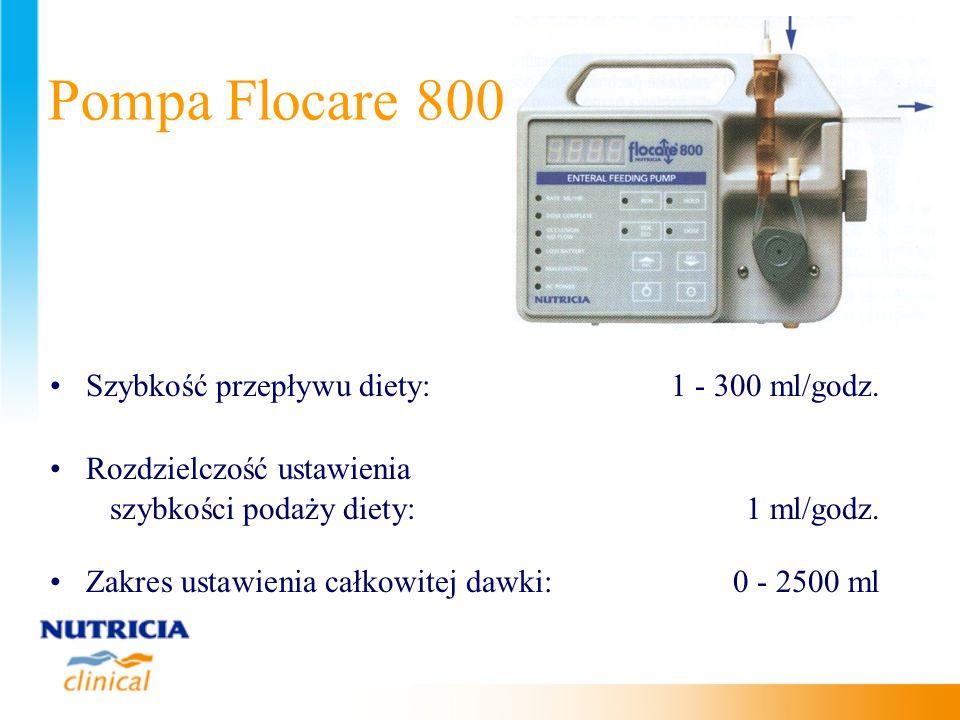 Pompa Flocare 800 Szybkość przepływu diety: 1 - 300 ml/godz.