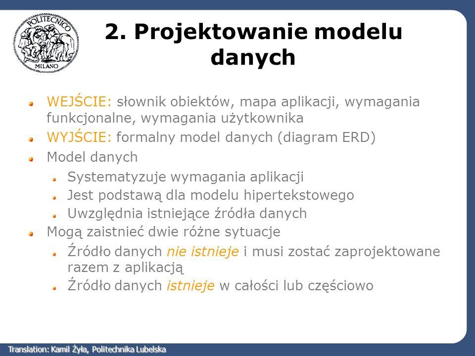 2. Projektowanie modelu danych