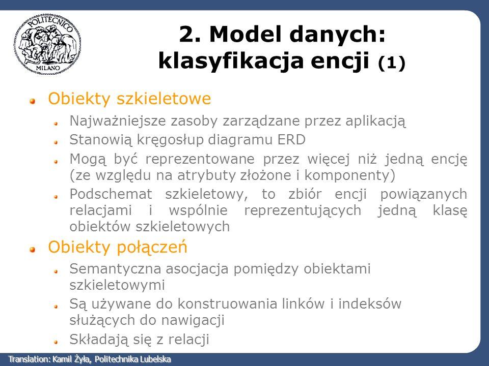 2. Model danych: klasyfikacja encji (1)