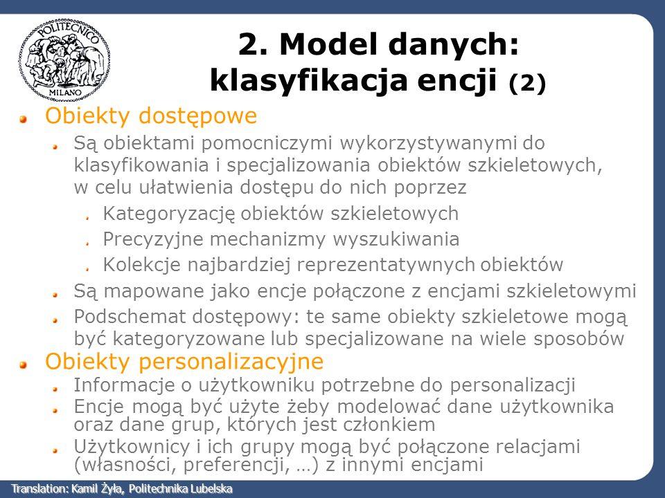 2. Model danych: klasyfikacja encji (2)