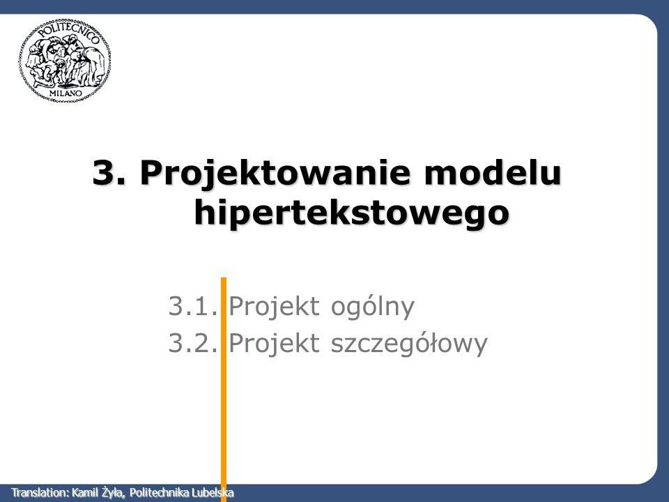 3. Projektowanie modelu hipertekstowego