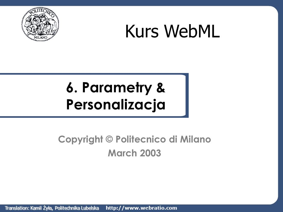 6. Parametry & Personalizacja