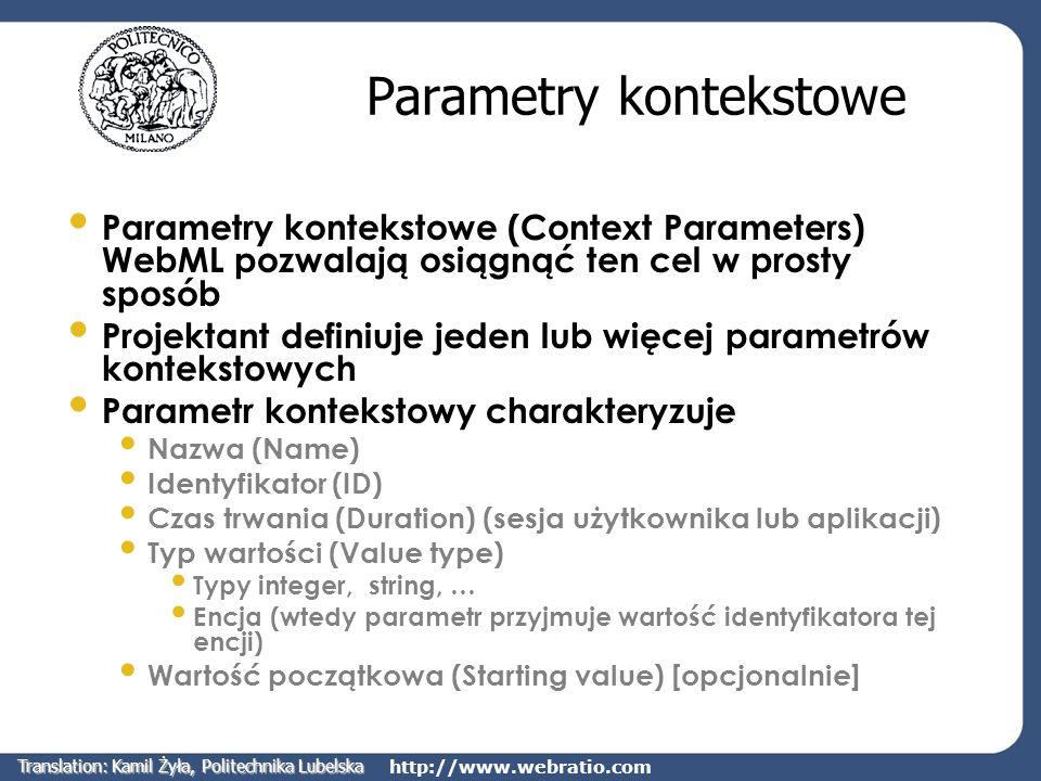 Parametry kontekstowe
