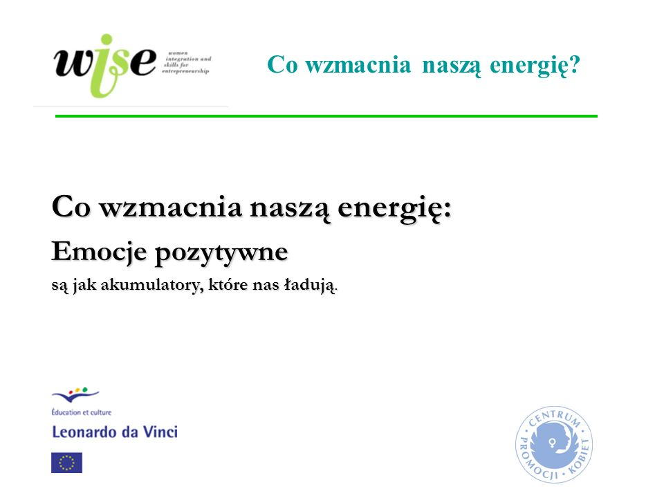 Co wzmacnia naszą energię: