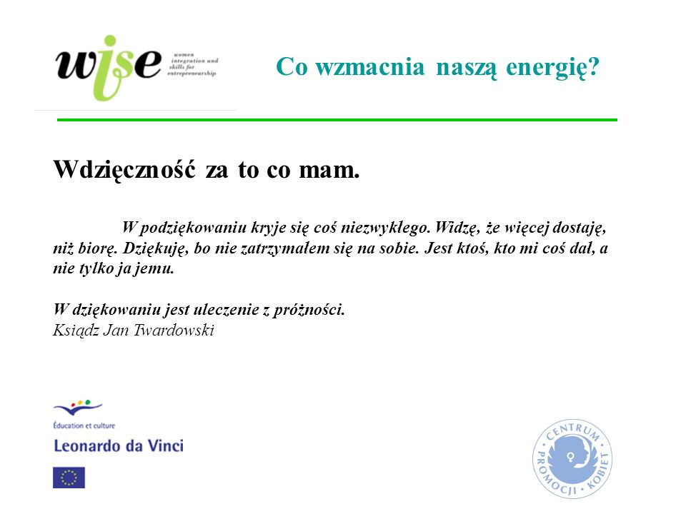 Co wzmacnia naszą energię