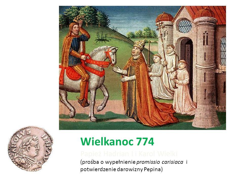 Wielkanoc 774 Papież Hadrian I i Karol Wielki