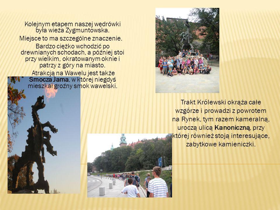 Kolejnym etapem naszej wędrówki była wieża Zygmuntowska.