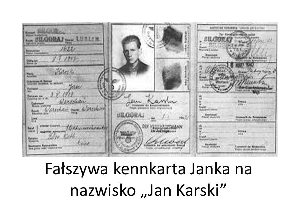 """Fałszywa kennkarta Janka na nazwisko """"Jan Karski"""