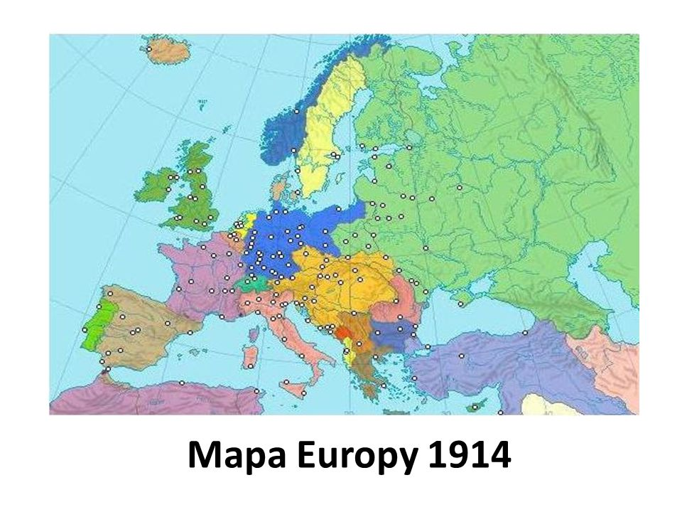 Mapa Europy 1914