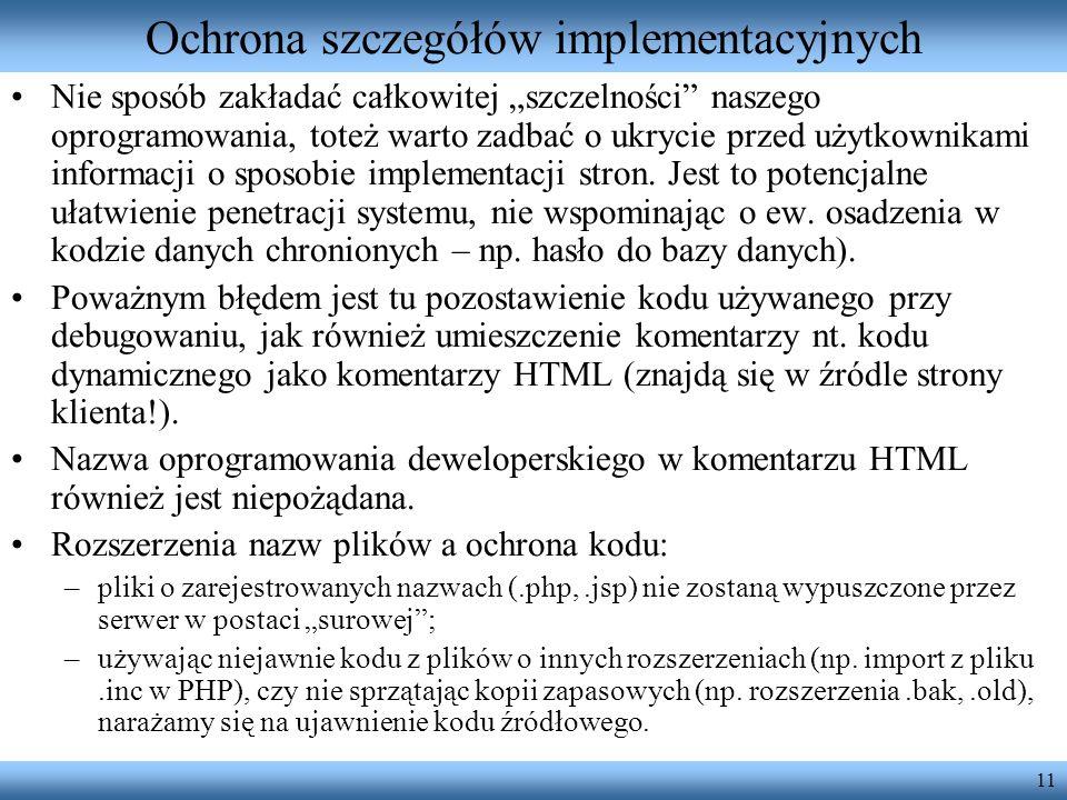 Ochrona szczegółów implementacyjnych