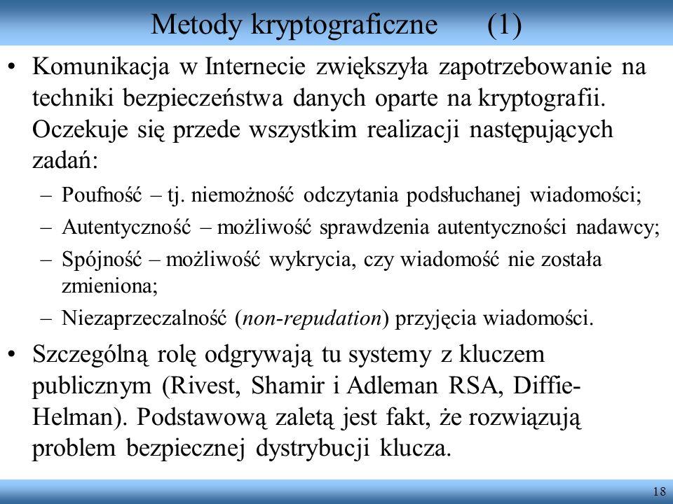 Metody kryptograficzne (1)