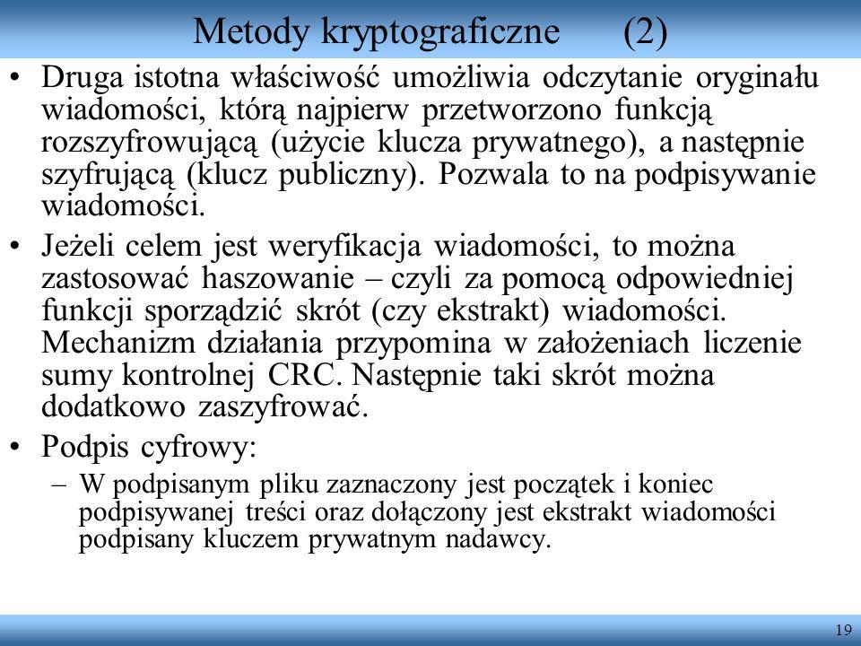 Metody kryptograficzne (2)