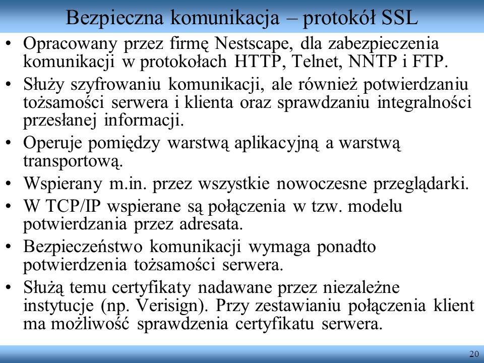 Bezpieczna komunikacja – protokół SSL