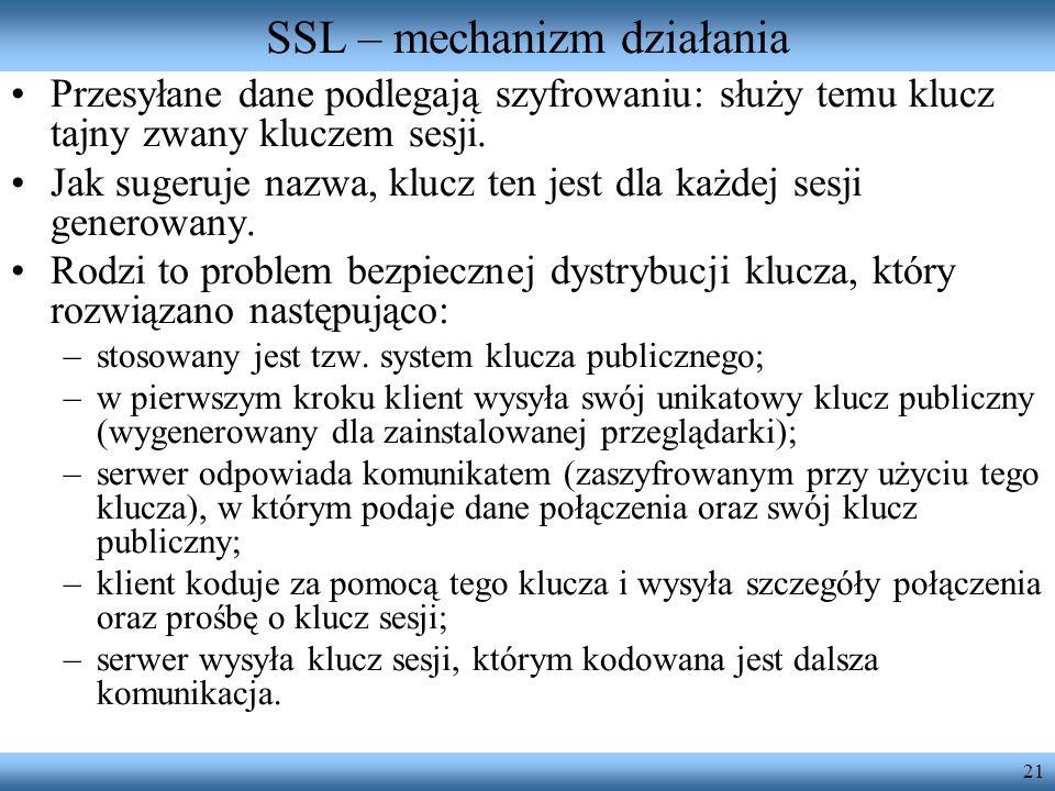 SSL – mechanizm działania