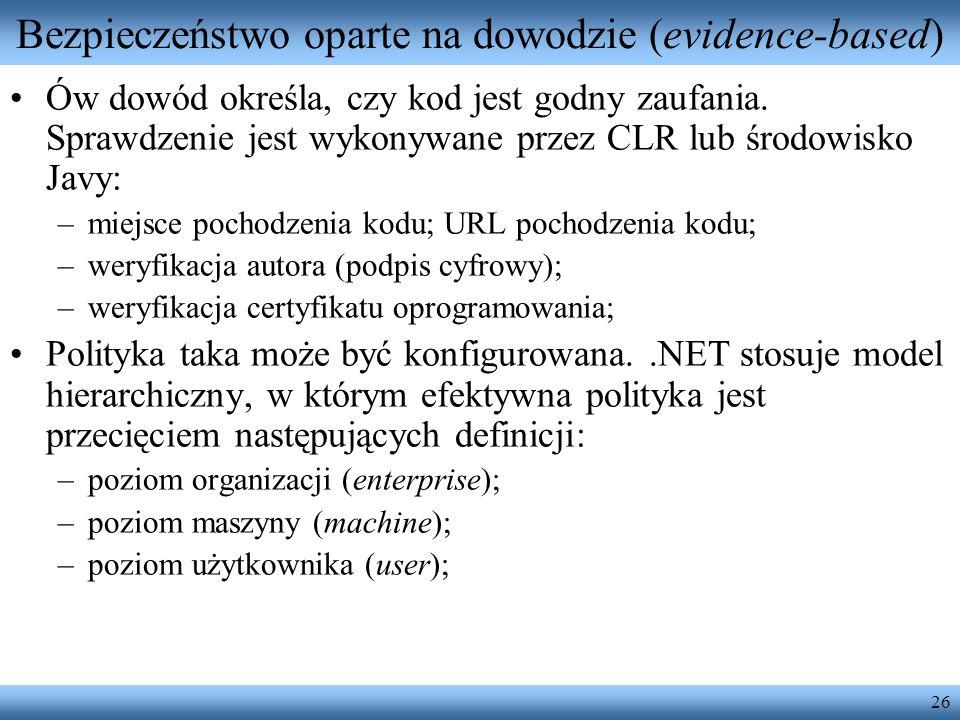 Bezpieczeństwo oparte na dowodzie (evidence-based)