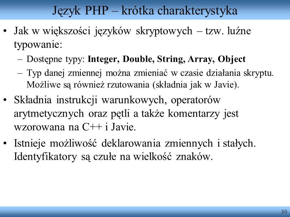 Język PHP – krótka charakterystyka