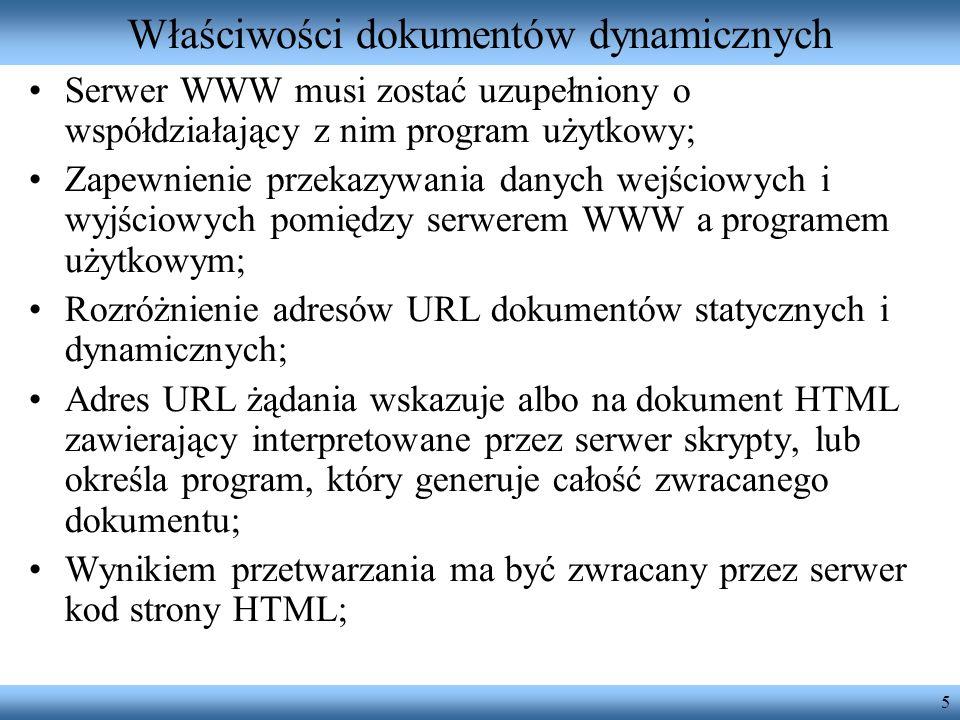 Właściwości dokumentów dynamicznych