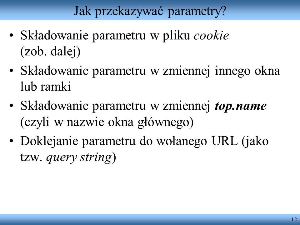 Jak przekazywać parametry