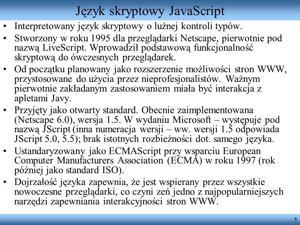 Język skryptowy JavaScript