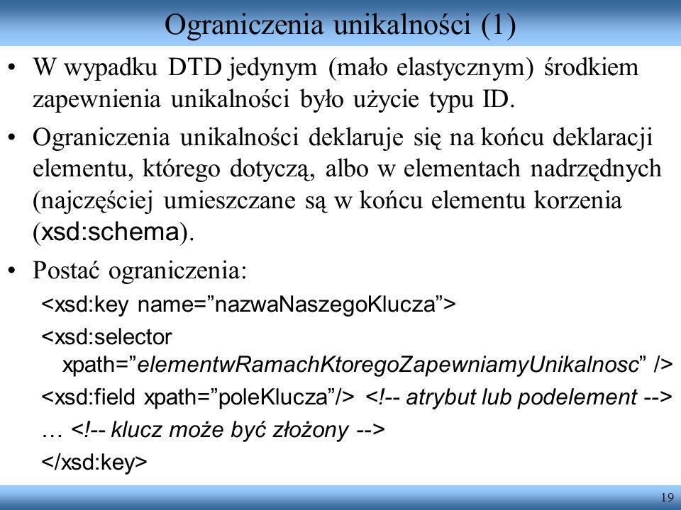 Ograniczenia unikalności (1)